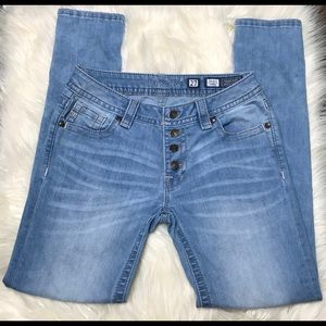 MISS ME 27 SKINNY CLEAR BLUE JEANS 29 IN